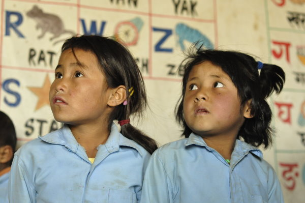 School Children in Nepalese Village