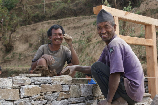 Happy Nepalese Workers
