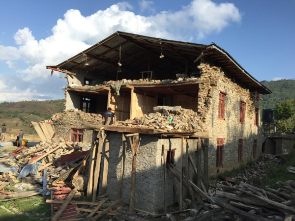 The volunteer hostel after the earthquake