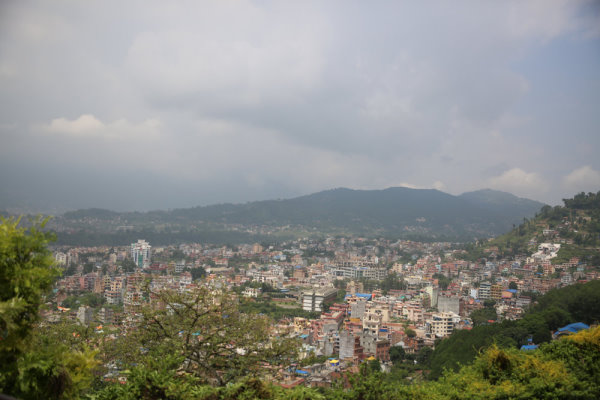 Kathmandu From the top of a Hill