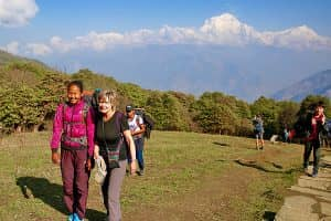 Day 18: Trek from Tadapani to Ghandruk to Pokhara (850m)