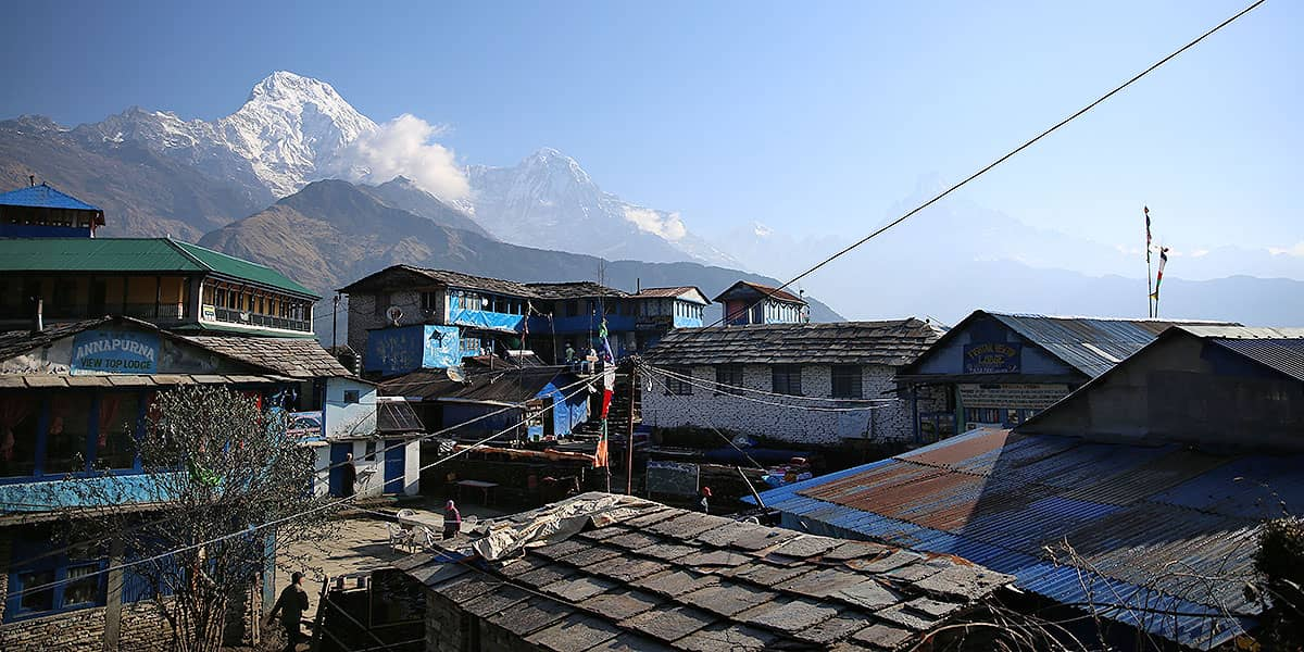 Day 4: Ghandruk to Chhomrong (2140m)