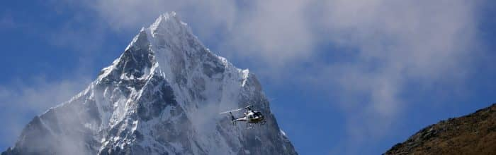 Helicopter Flights over the Everest Region